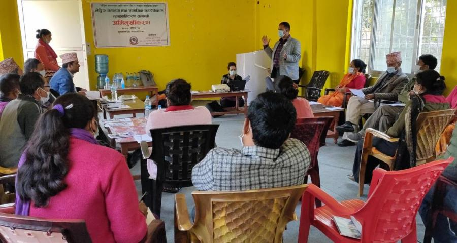 Glimpses of orientation on GESI Mainstreaming to LG representatives of Suklaphanta Municipality, conducted on December 1 by Provincial Center for Good Governance- Sudurpaschim.