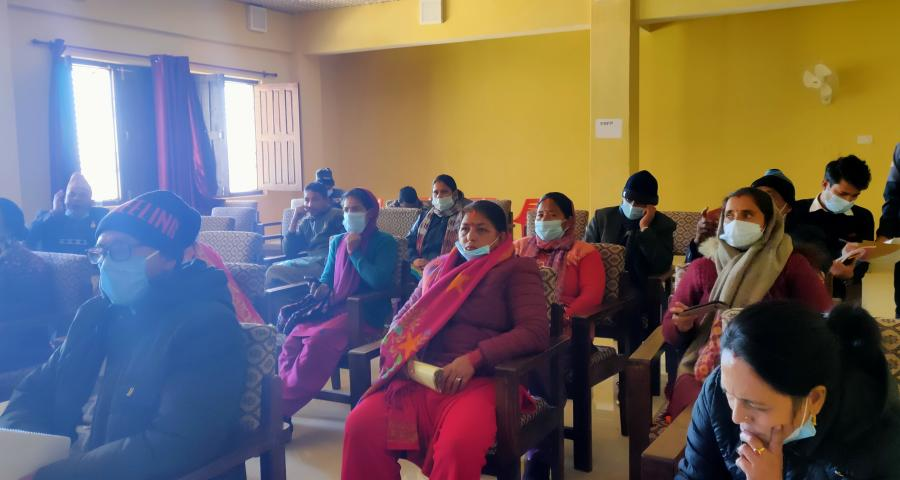 Photos of PCGG, Sudurpaschim Province organized GESI mainstreaming workshop in Chure Rural Municipality,