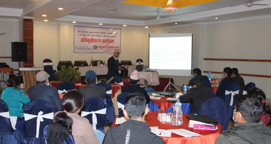 Photos of Orientation Program for Provincial IT Personnel and Formulation of Provincial IT Network and Mobilization