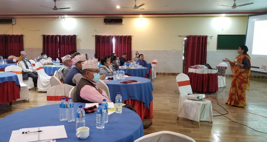 Photo of Workshop on Gender responsive and inclusive budgeting and Policy making workshop conducted for Provincial Assembly Members of Province 1