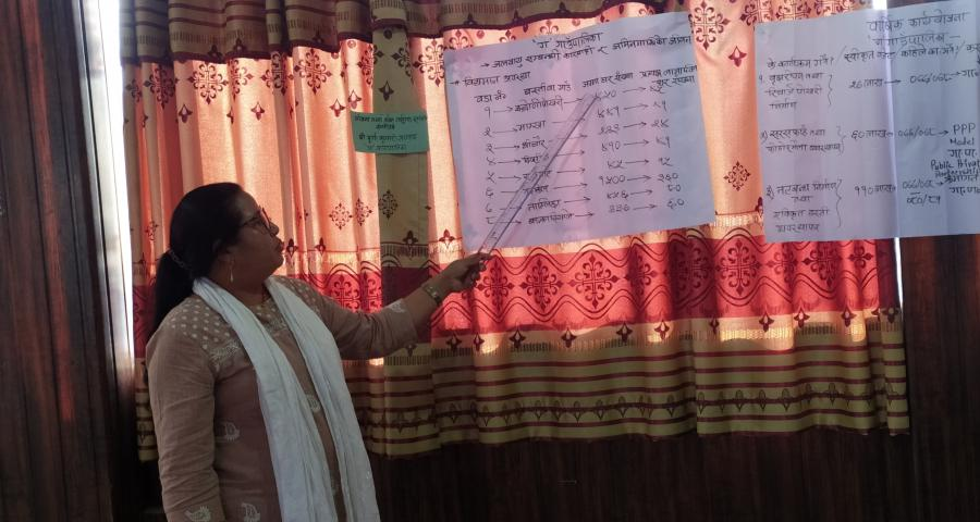 photos of planning and budgeting training for LGs conducted by Province-1